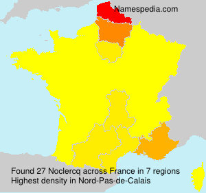 Surname Noclercq in France