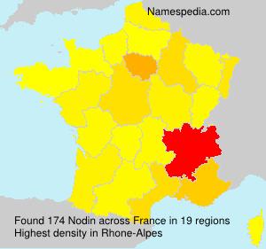 Surname Nodin in France