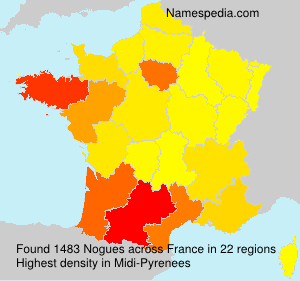 Surname Nogues in France