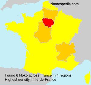 Surname Noko in France