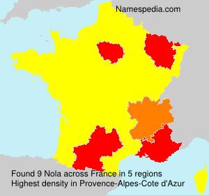Surname Nola in France