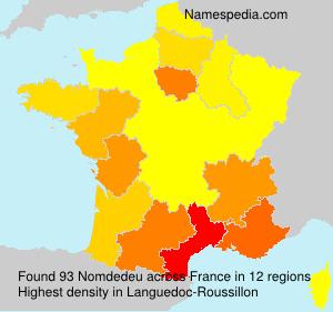 Familiennamen Nomdedeu - France