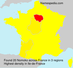 Surname Nomoko in France