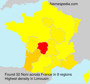 Surname Noni in France