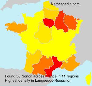 Surname Nonon in France
