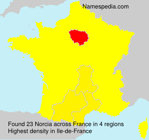 Surname Norcia in France