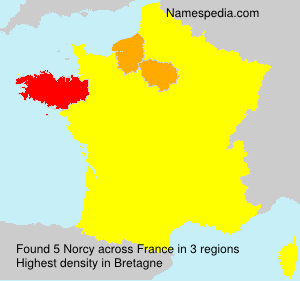 Surname Norcy in France