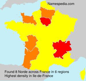 Surname Norde in France