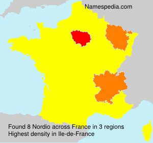 Familiennamen Nordio - France