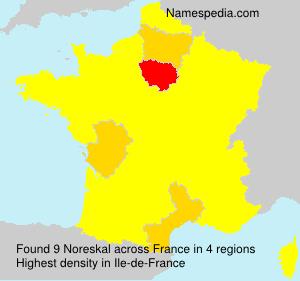 Surname Noreskal in France