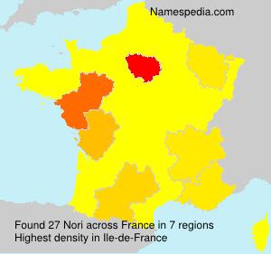 Surname Nori in France