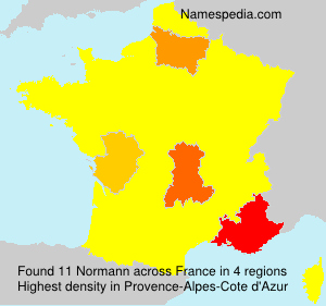 Surname Normann in France