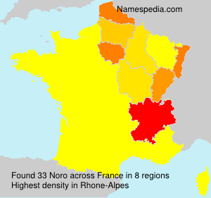 Familiennamen Noro - France
