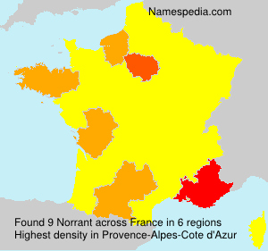 Surname Norrant in France