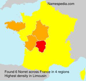 Familiennamen Norret - France