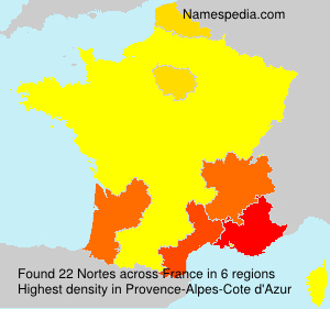 Surname Nortes in France