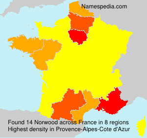Surname Norwood in France