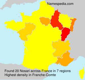 Surname Nosari in France