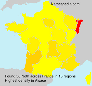 Surname Noth in France
