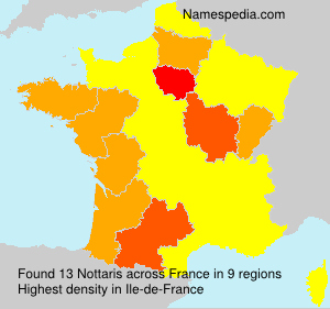 Surname Nottaris in France