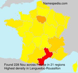 Surname Nou in France