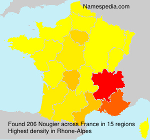 Surname Nougier in France