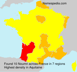 Surname Noumri in France