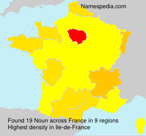 Surname Noun in France