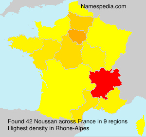 Surname Noussan in France