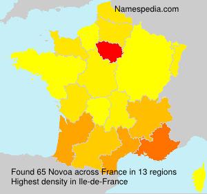 Surname Novoa in France