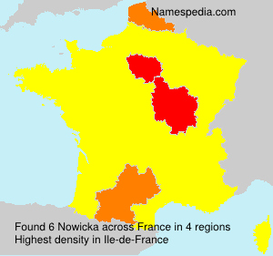 Surname Nowicka in France