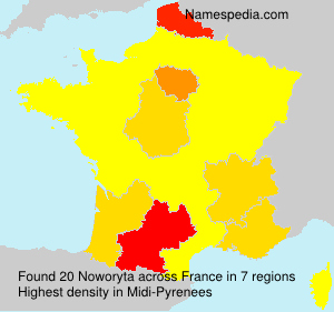 Surname Noworyta in France