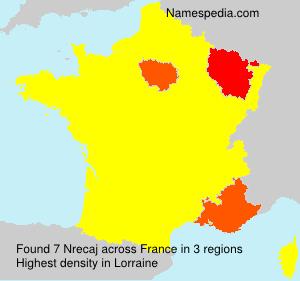 Surname Nrecaj in France