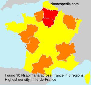 Familiennamen Nsabimana - France