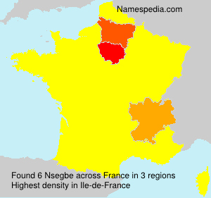 Surname Nsegbe in France