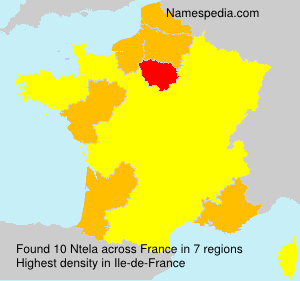 Surname Ntela in France