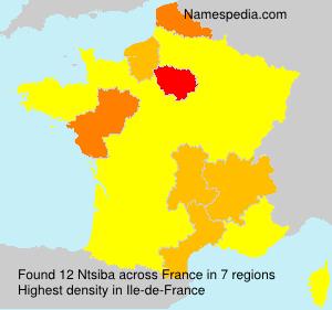 Surname Ntsiba in France