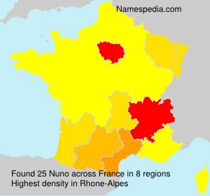 Surname Nuno in France