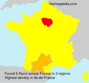 Surname Nurul in France