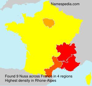 Familiennamen Nusa - France