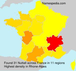 Familiennamen Nuttall - France