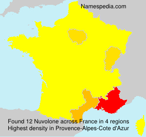 Surname Nuvolone in France