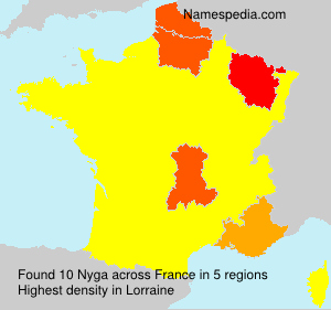 Surname Nyga in France