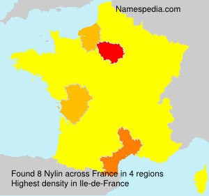 Surname Nylin in France