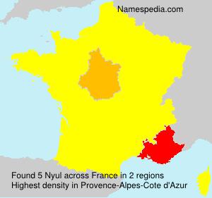Familiennamen Nyul - France