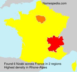 Familiennamen Nzabi - France