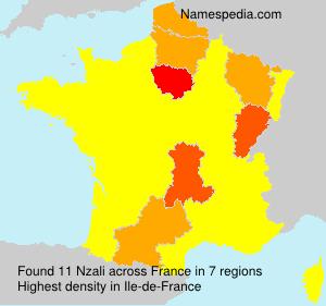 Familiennamen Nzali - France