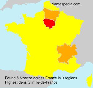 Familiennamen Nzanza - France