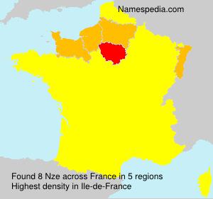 Familiennamen Nze - France