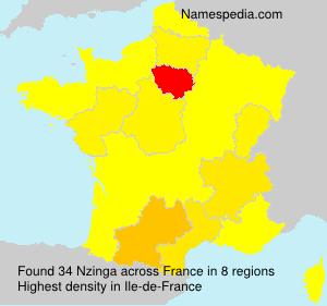 Familiennamen Nzinga - France